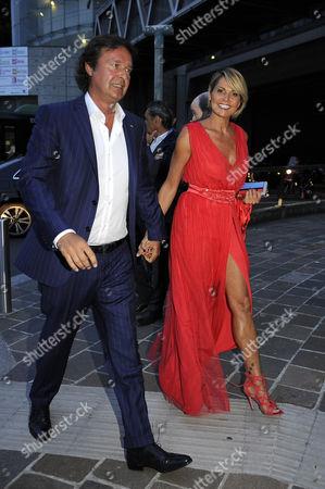 Stock Photo of Simona Ventura and Gerolamo Carraro