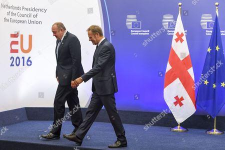 Giorgi Margvelashvili, Donald Tusk