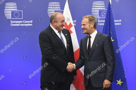 Giorgi Margvelashvili / Donald Tusk