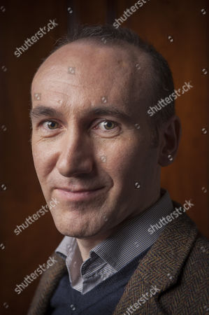 Stock Image of The author Stephen Kelman photographed at The Cinammon Club in London