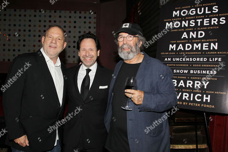 Harvey Weinstein, Barry Avrich and Michael Cohl