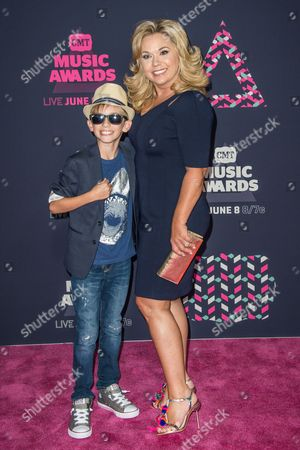 Stock Picture of Julie Chrisley and Grayson Chrisley