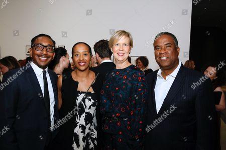 Stock Photo of Eduardo Soriano-Hewitt, Naima Keith, Joanne Heyler and George Davis