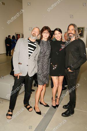 Kenny Scharf, Honor Fraser, Robert Russell and actress Lisa Edelstein
