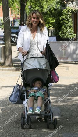 Claire Sweeney with son Jaxon Reilly