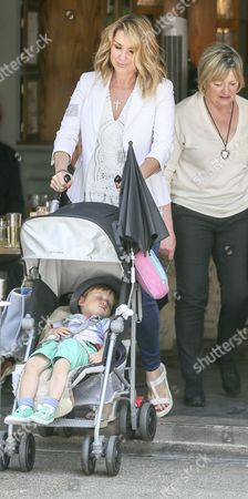 Stock Picture of Claire Sweeney with son Jaxon Reilly