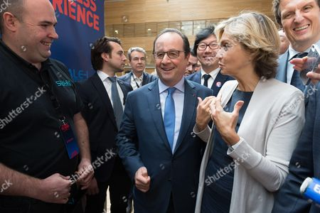 Francois Hollande, Jean-Vincent Place, Valerie Pecresse and Jerome Chartier