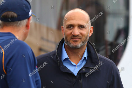 Stock Photo of Sky Sports presenter Mark Butcher during Essex Eagles vs Gloucestershire, Nat West T20 Blast Cricket at the Essex County Ground on 16th June 2016