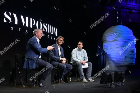 Stock Picture of Eric Schmidt, Niklas Zennstrom, Robin Wauters