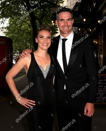 Stock Photo of Jessica Taylor and Kevin Pietersen