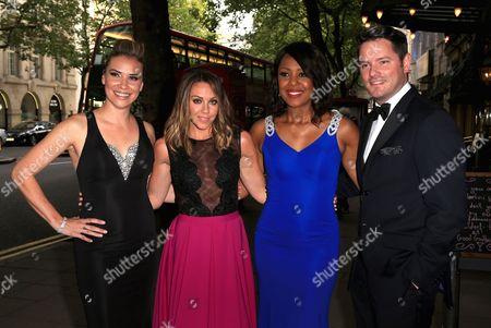 Jessica Taylor, Michelle Heaton, Kelli Young and Tony Lundon