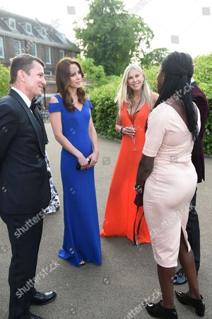 Catherine Duchess of Cambridge with Sharron Davies and olympian Christine Ohuruogu