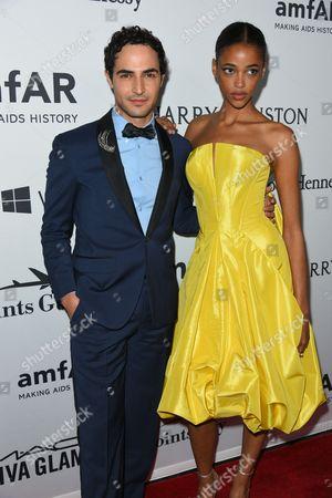 Zac Posen and Aya Jones