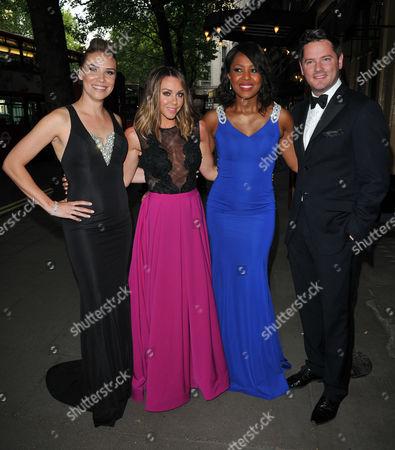 Stock Picture of Jessica Taylor, Michelle Heaton, Kelli Young & Tony Lundon