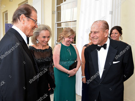 Stock Photo of Sir Roger Moore, Prince Philip