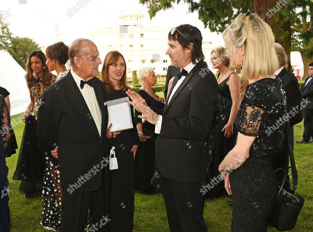 Stock Image of Naomie Harris, Prince Philip and Neal Purvis