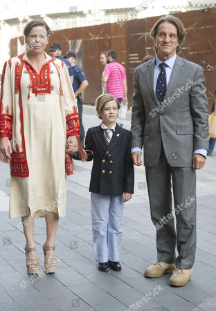 Princess Kalina of Bulgaria, husband Kitin Munoz and son Simeon Hassan