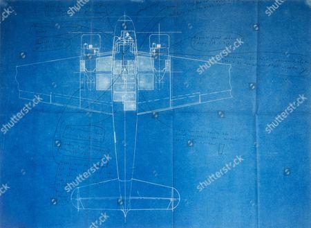 Blueprints for the Electra 10e aircraft