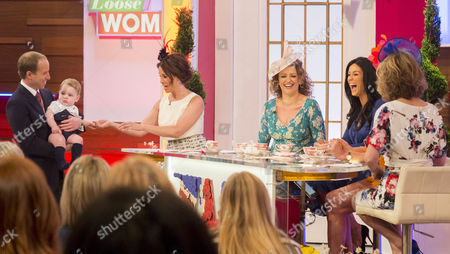 Prince William look-alike Simon Watkinson, Prince George look-alike, Andrea McLean, Nadia Sawalha, Vicky Pattison