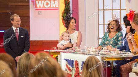 Prince William look-alike Simon Watkinson, Prince George look-alike, Andrea McLean, Nadia Sawalha