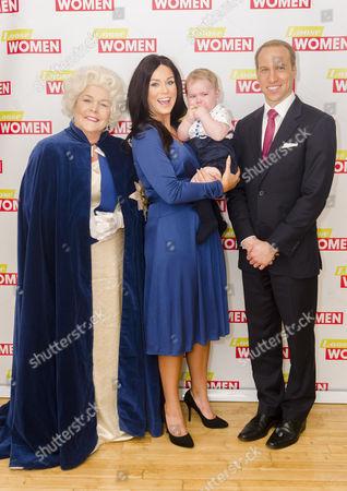 Linda Robson, Vicky Pattison, Prince George look-alike and Prince William look-alike Simon Watkinson