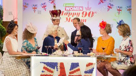 Andrea McLean, Nadia Sawalha, Linda Robson, Joey Essex, Prince George look-alike, Prince William look-alike Simon Watkinson, Vicky Pattison, Penny Lancaster, Kaye Adams
