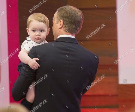Stock Image of Prince George look-alike, Prince William look-alike Simon Watkinson