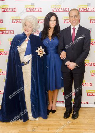 Linda Robson, Vicky Pattison and Prince William look-alike Simon Watkinson