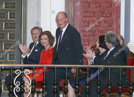 King Juan Carlos and Sofia, and Margarita Gomez-Acebo