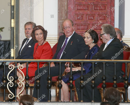 Stock Picture of King Juan Carlos and Sofia, and Margarita Gomez-Acebo