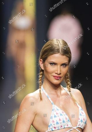 Miss World Mireia Lalaguna on the catwalk