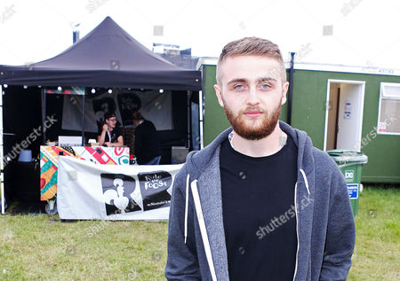 Howard Lawrence backstage at Wild Life festival in Brighton
