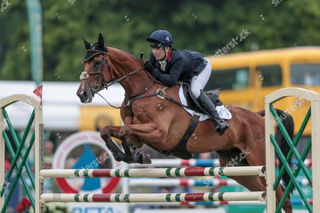 PAMERO 4 ridden by Laura Collett competing in the show jumping at Bramham International Horse Trials 2016 at  at Bramham Park, Bramham