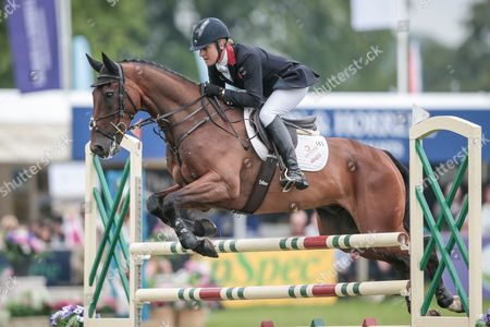 CALVINO II ridden by Kristina Cook at Bramham International Horse Trials 2016 at  at Bramham Park, Bramham