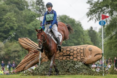 BILLY THE RED ridden by Kristina Cook at Bramham International Horse Trials 2016 at  at Bramham Park, Bramham