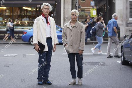 Editorial image of Street Style - London Collections Men, Fashion Week, London, UK - 11 Jun 2016