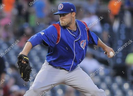 South Bend Cubs pitcher John Williamson (20) means serious business during a MiLB game between the South Bend Cubs vs the Bowling Green Hot Rods at Bowling Green Ballpark in Bowling Green Kentucky