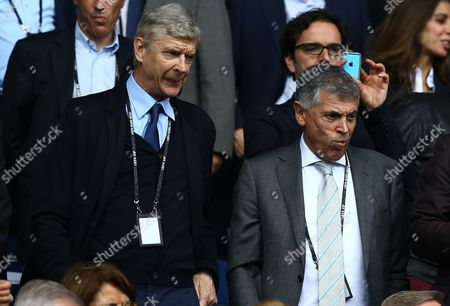 Arsene Wenger and David Dein in the stands during the UEFA Euro 2016 Group D match played between Turkey and Croatia at Parc des Princes, Paris, France on June 12th 2016