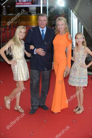 Princess Camilla of Bourbon-Two Sicilies, Prince Carlo of Bourbon-Two Sicilies, Duke of Castro with daughters Maria Clara and Maria Carolina