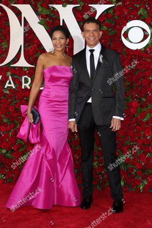 Stock Photo of Allyson Tucker and Brian Stokes Mitchell