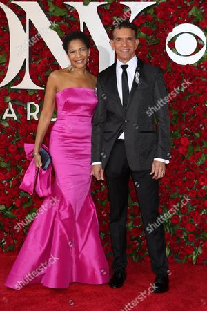 Stock Image of Allyson Tucker and Brian Stokes Mitchell