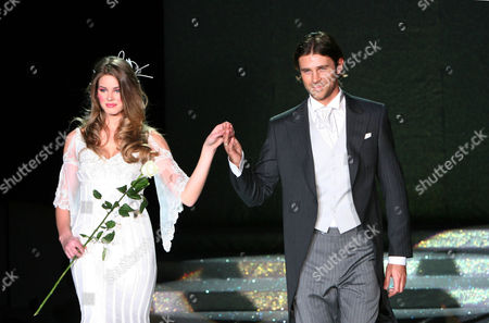 Actress and Model Vanessa Hessler and actor Fabio Fulco on the catwalk