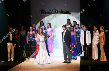Actress and model Vanessa Hessler and actor Fabio Fulco on catwalk