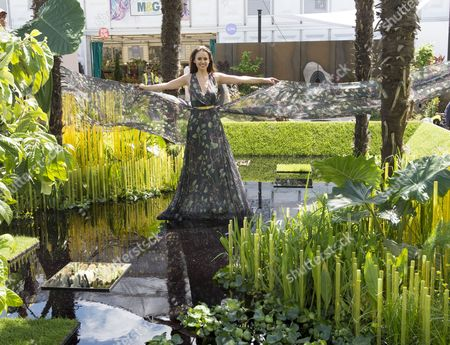 Miss Sweden Camilla Hansson At The World Vision Garden On Show At The Rhs Chelsea Flower Show In London. 17.5.15.