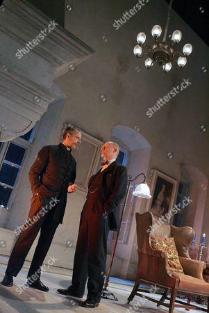 Embers at the Duke of York's Theatre - Jeremy Irons ( Henrik ) Patrick Malahide ( Konrad )