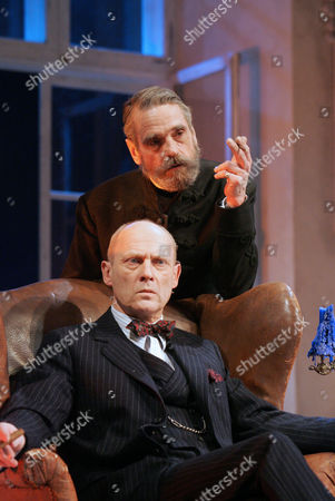 Embers at the Duke of York's Theatre - Patrick Malahide ( Konrad), Jeremy Irons ( Henrik )