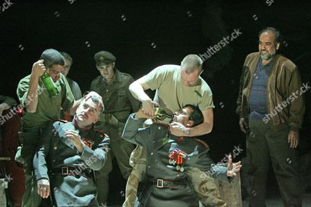 The Soldier's Tale at the Old Vic - Ala'a Rasheed, Martin Marquez, Ciaran McMenamin, Deaa al Deen, Falah al Flayeh