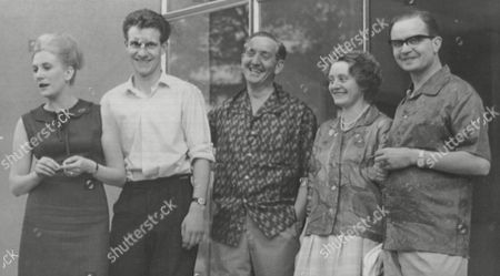 L-r: Shirley Bond David Wooding Harry Willetts And Mr & Mrs Barks Survivors Of The Douglas Dc3 Dakota Aircraft That Crashed In The Mediterranean. Box 654 81112151 A.jpg.