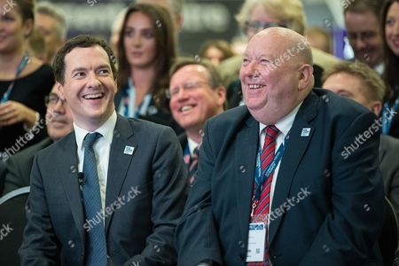 Chancellor of the Exchequer, George Osborne and the Mayor of Liverpool Joe Anderson at the International Festival for Business at the Liverpool Exhibition Centre