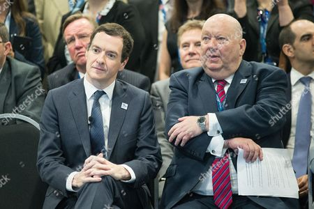 Chancellor of the Exchequer, George Osborne and Mayor of Liverpool Joe Anderson at the International Festival for Business at the Liverpool Exhibition Centre